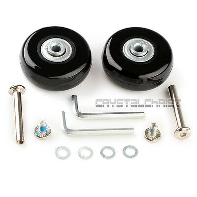 """Luggage Suitcase Replacement Wheels OD 50 (1.97"""") ID 6 W 18 Axles 35 Repair Set"""