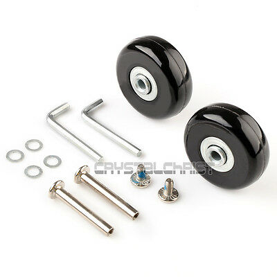"""Luggage Suitcase Replacement Wheels OD 50 (1.97"""") ID 6 W 18 Axles 40 Repair Set"""