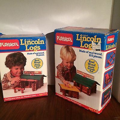Plays look Lincoln Logs 2 Boxes Not Complete