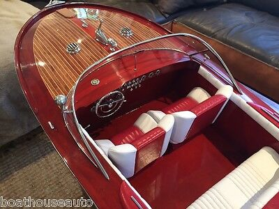 Model speed boat hand made Wooden timber boat  - Riva Aquarama Special HUGE!