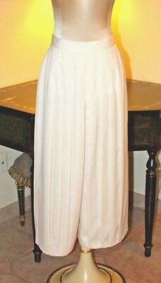 Couture Vintage  Apart Ivory Box  Pleated Blousy Palazzo Dressy Lined Pants / Uk