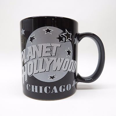 Planet Hollywood Chicago Collector Black Coffee Mug 1991 Phr Iv