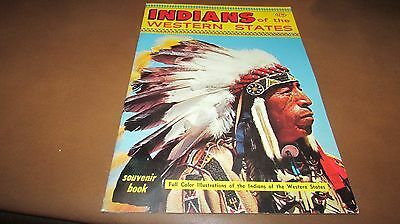 Indians of the Western States Souvenir Book 1960's VINTAGE NAVAJO SIOUX HOPI +++