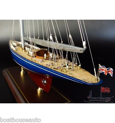 Museum Quality Model boat hand made Wooden  - J boat Endeavour 1934 Am Cup