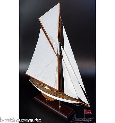 Museum Quality Model boat hand made Wooden  - Columbia 1899 Americas Cup