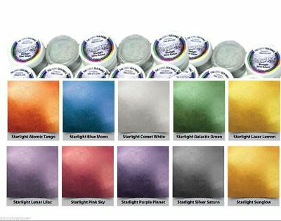 Rainbow Dust Edible Silk Range Starlight Glitter Lustres 100% Edible Cake Powder