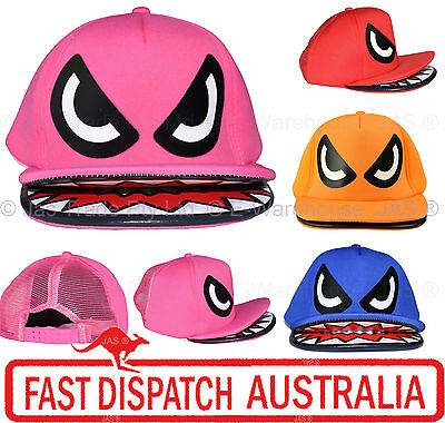 Snapback Snap Back Flat Double Peak Monster Animal Baseball Mesh Trucker Cap Hat
