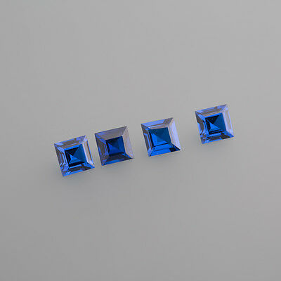 Synthese blau Spinell 6 x6mm Carreé / BOX 1 (13C)