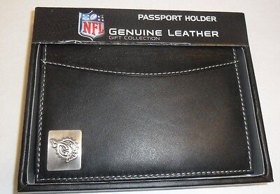 Genuine Leather NFL Passport Holder Wallet Football NIB