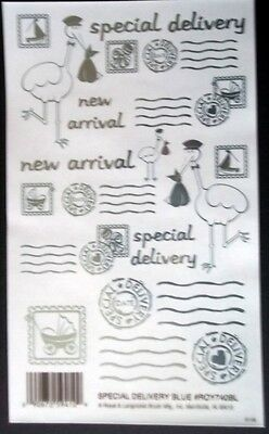 SPECIAL DELIVERY~ Royal & Langnickel Metallic Foil Rub-ons - scrapbooking/cards