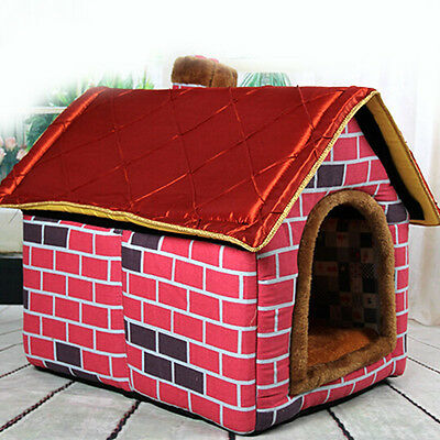 Hot Dog House New Candy colored Indoor Comfort kennel Soft Washable Pet Nest Bed
