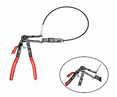 "24"" Long Reach Flexible Hose Clamp Pliers Locking Tool Fuel Oil Water Hose Tool"