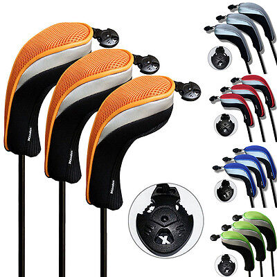 Andux 3 Pack Andux Golf Hybrid Club Head Cover Putter Headcovers Interchangeable
