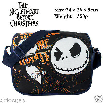 The Nightmare Before Christmas Jack Skellington Canvas Messenger Shoulder Bag