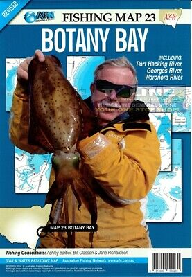 AFN Fishing Maps Botany Bay (NSW) Map 23 Tear & Water Resistant Map