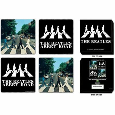 The Beatles Abbey Road Drinks Coasters Album Cover Gift Set Box 100% Official