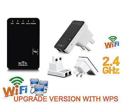 300Mbps Wifi Wireless Repeater Router AP Extender Booster Client Bridge SKY WPS