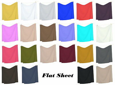 Flat Sheet / Top Sheet 1800 Collection Ultra Soft in 22 Colors All Sizes