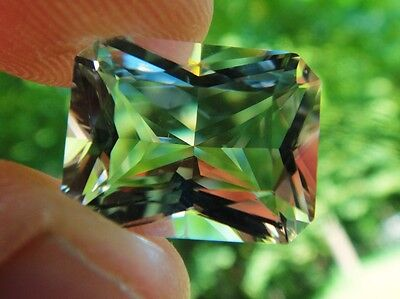 6.8 Carat Faceted Herkimer Diamond GENUINE from NY USA - Emerald Cut 14x10mm