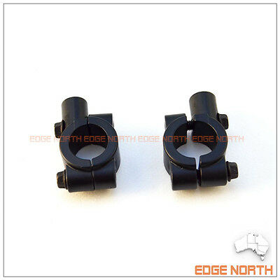 Motorcycle Scooter Handlebar Universal 10mm Mirror Mount Adaptor Clamp Black
