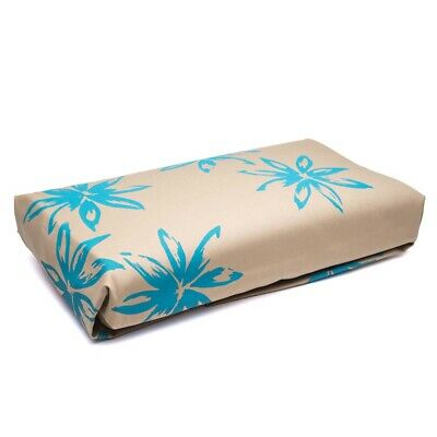 NEW ART Ironing Board Cover Aqua Flowers On Taupe