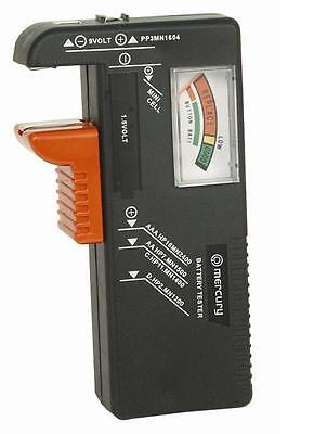UNIVERSAL BATTERY TESTER AA AAA C D 9V and Button Cell Batteries