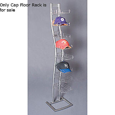 "New Retails Single Sided Silver finished Cap Floor Rack 14""D x 14"" W x 65"" H"
