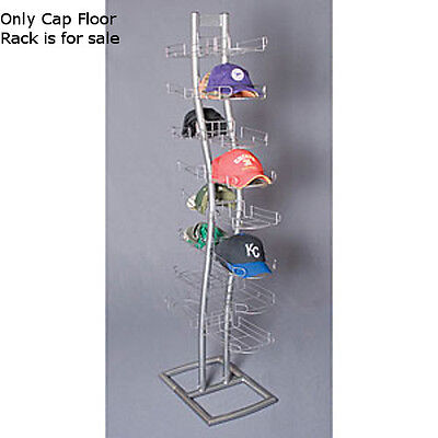 "New Retails Double Sided Silver finished Cap Floor Rack 24""D x 14""W x 65"" H"