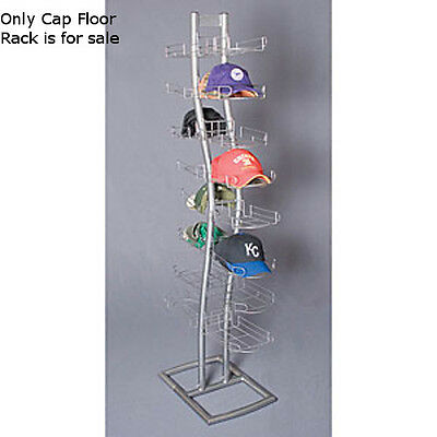 """New Retails Double Sided Silver finished Cap Floor Rack 24""""D x 14""""W x 65"""" H"""