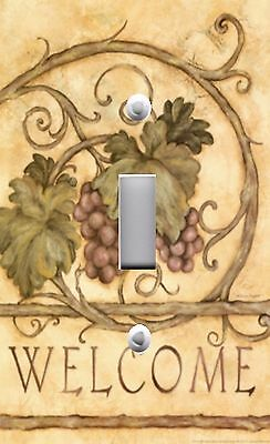 Light Switch Plate Outlet Covers TUSCAN ~ WELCOME GRAPE VINES LEAVES
