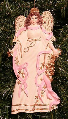 Ksa Victorian Angel In Ivory Gown Christmas Ornament