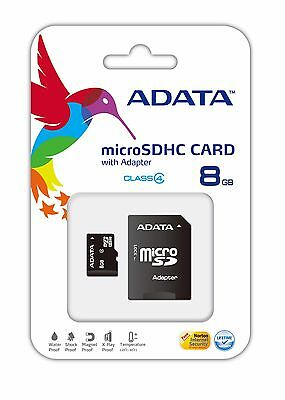 Adata Class 4 8GB MicroSD Card with SD Adapter TF Flash Memory for Smartphone