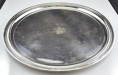"""#5814 - Tiffany & Co. Makers - Sterling Silver - 12"""" Plate - Mono = HSH"""
