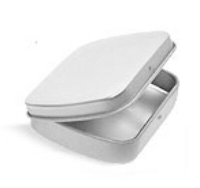 Metal Hinge Top Tin Containers for Crafts Geocache Storage Survival Kit (3 pack)