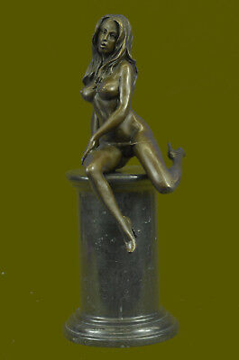 Nude Lady Woman Girl Real Bronze Statue Sculpture for garden pool pond lake Gift