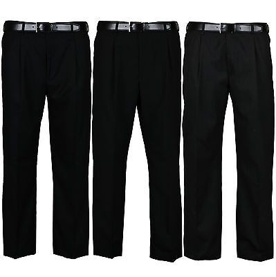 New Mens Formal Trousers Casual Office Smart Business Work Dress Pants Waist