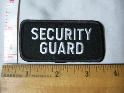 'SECURITY GUARD' crest/patch white on black - unique