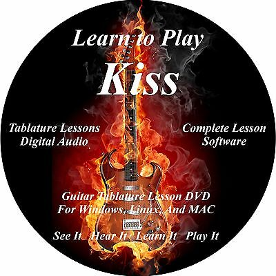 Kiss Guitar TABS Lesson CD 249 Songs + Backing Tracks + BONUS