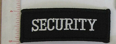 1 x NEW 'SECURITY' crest/patch white on black