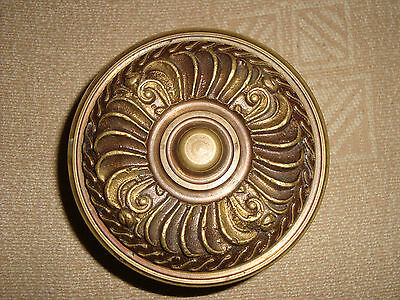 Greece old vintage heavy solid brass large door knob handle pull & push only -D5