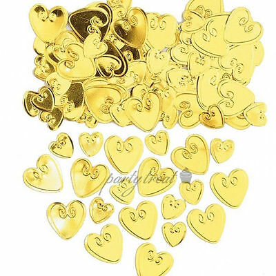 Gold Heart Foil Confetti Party Supplies Wedding Table Scatters Decorations