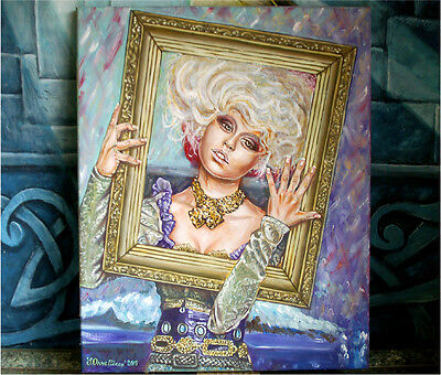 Fantasy Theater Art Girl Victorian Lady Dress Princess Fairy Oil Canvas Painting