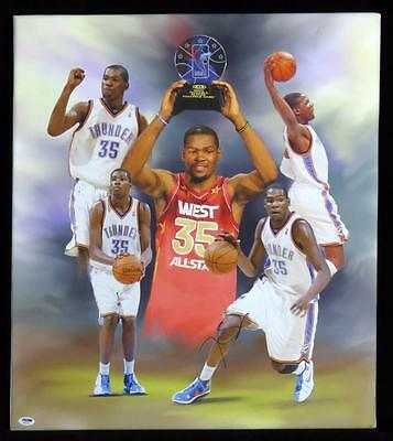 Beautiful 22x25 KEVIN DURANT SIGNED Canvas Giclee All-Star AUTO PSA/DNA