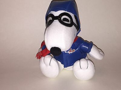 """METLIFE Promotional Stuffed PEANUTS Plush FLYING ACE RED BARON SNOOPY 6.5"""" EUC"""
