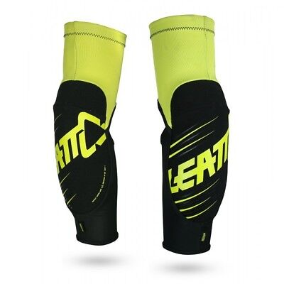 Leatt NEW Youth Mx 3DF 5.0 Kids BMX Lime Black Motocross Junior Elbow Guards