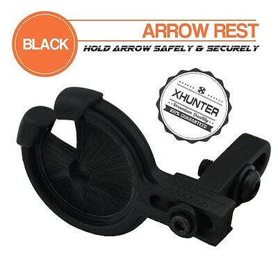 Xhunter Whisker Quick Shot Arrow Rest Brush Arrow Rest For Compound Bow Black