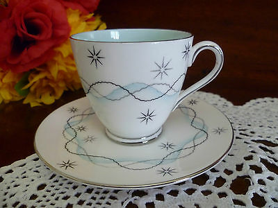 very unusual patterned coffee cup & saucer Tuscan