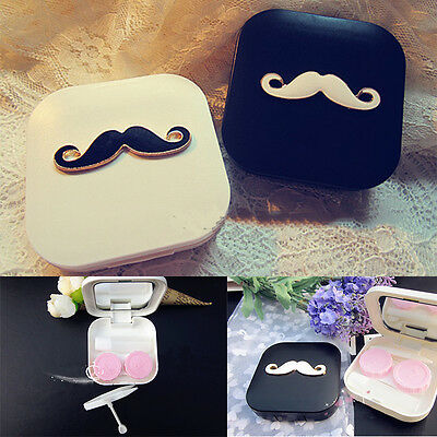 Beard Appearance Contact Lens Case Box Container Holder Super Sale Lovers