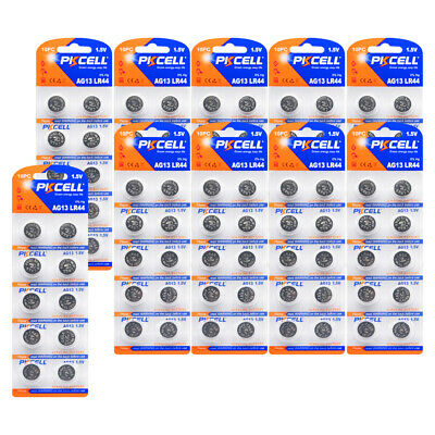 100 x AG13 LR44 L1154 357 A76 AG 13 1.5V Alkaline Button Coin Battery