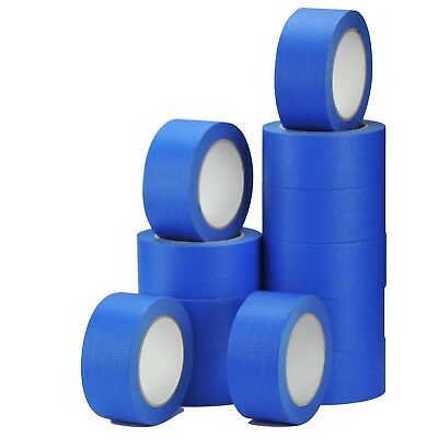 4 Rolls-UV-Resistant-Blue-Painters-Clean-Peel-Masking Tape 50mm x 50m
